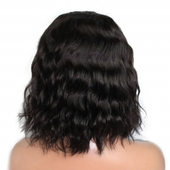 Short Human Hair Wigs Brazilian Body Wavy 360 Lace Front Bob Wigs With Baby Hair For Black Women