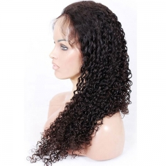 Curly Full Lace Wigs Human Hair with Baby Hair for Black Women Natural Hair Line