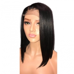 Side Part 13X6 Lace Front Wigs Bob Straight Human Hair Deep Part Wigs With Baby Hair 130% For Black Woman Brazilian Remy Hair Wig in Stock