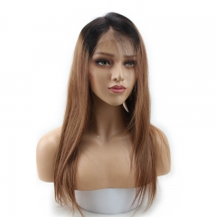 1BT30# Full Lace Wig Brazilian Human Hair Natural Hairline with Baby Hair