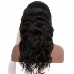 Silk Top Full Lace Wigs Stock Body Wave Human Hair Wigs Pre-Plucked Natural Hair Line With Baby Hair