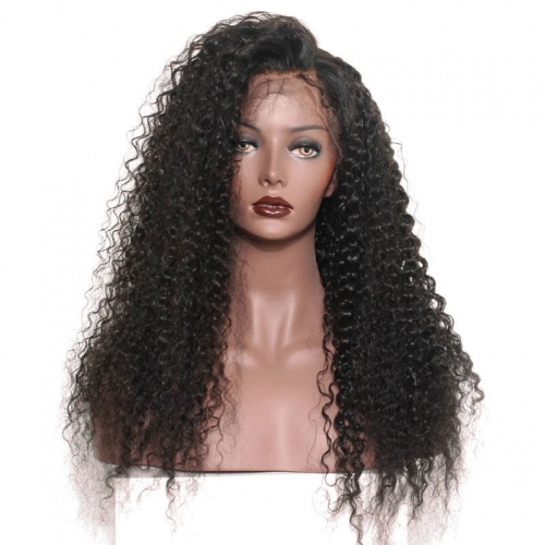 360 Lace Frontal Wigs Deep Curly 180% Density Circular Lace Front Wigs 100% Huamn Hair Wigs Natural Hair Line