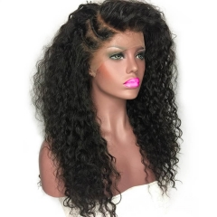 250% High Density Deep Curly Full Lace Human Hair Wigs 7A Brazilian Hair Wigs for Black Women