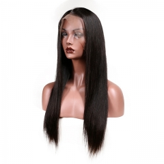 150 Density Lace Front Ponytail Wigs Human Hair High Ponytail Full Lace Wigs For Black Women Silky Straight Brazilian Full Lace Front Wigs