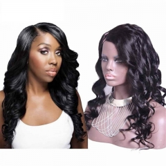 Cheap Loose Wave Brazilian Virgin Human Hair U Part Wigs 1B# Color 8-24 in stock