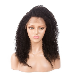250% Density Kinky Curly Pre-Plucked Full Lace Wigs Malaysian Virgin Hair Lace Front Wigs Natural Hair Line