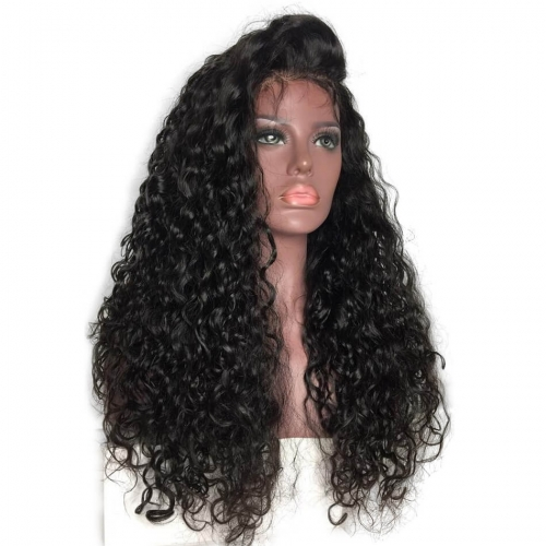 Brazilian Hair Deep Curly Lacce Front Wigs 250% High Density Full Lace Human Hair Wigs for Black Women