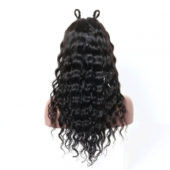 Cheap Loose Wave 180 Density Human Hair Baby Hair All Around Natural 360 Lace Wigs for Sale