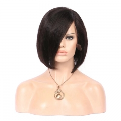 Bob Cut Lace Front Human Hair Wigs With Pre Plucked Brazilian Remy Hair Short Bob Wigs For Black Woman Lace Front Bob Wig 13x6 Long Paring Natural C