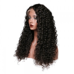 Lace Front Wig 180% Density Deep Wave Human Hair Wigs