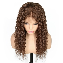 4# Curly Full Lace Wigs&Lace Front Wig 100% indian Remy Human Hair Density 130%