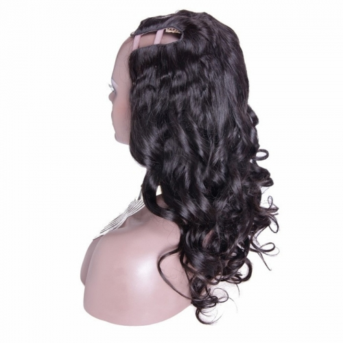 Affordable U Part Wigs Loose Wavy Brazilian Virgin Human Hair U Part Wigs 8-24 in stock