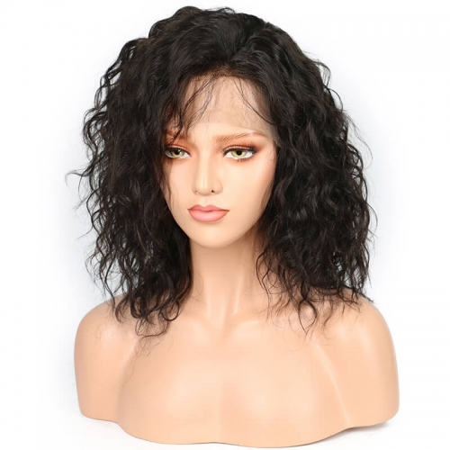250% Density Natural Wave Full Lace human Hair Wigs Glueless Lace Front Wigs Malaysian Virgin Human Hair