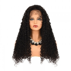Cheap Full Lace Wigs Deep Curly Human Hair Brazilian Remy Hair Swiss Lace Free Shipping