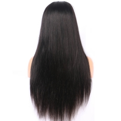 7A Grade Brazilian Virgin Full Lace Human Hair Wigs Straight 130 Density Lace Front Human Hair