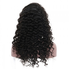 New 100% Human Hair Malaysian Virgin Human Hair Wigs Loose Wave  Lace Front Wig 1B Color Density 130% 8-26inch in stock