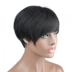 Eseewigs Best Indian short human hair wigs for black women  virgin human hair bob wigs with bangs baby hair