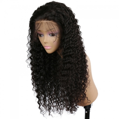 250% High Density Deep Curly Glueless Lace Front Full Lace Human Hair Wigs Human Hair Wigs Natural Hair Line