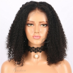 13x6 Afro Kinky Curly Lace Front Wigs 150% Density Raw-Remy Human Hair Wigs for Black Women Kinky Curly Full Lace Frontal Wigs with Baby Hair