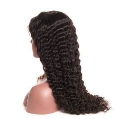 Pre-Plucked 250% Density Wigs Full Lace Human Hair Wigs Deep Wave Natural Hair Line Brazilian Lace Wigs