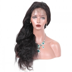 Human Hair Silk Top Lace Wigs Body Wave Brazilian Silk Base Full Lace Wigs Natural Hair Line 130% Density