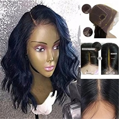 13x6 Deep Part Lace Front Wigs Grade 8A Peruvian Human Hair Glueless Wavy Wigs 180 Density