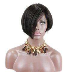 Side Part Bob Lace Front Wigs Beautiful Human Hair For Black Women Brazilian Human Hair