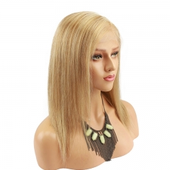 H 27 613 wig Highlight Color Full Lace Front Wig Human Hair Wigs Full Head Silky Straight