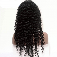 250% Density Wig Deep Wave Pre-Plucked Natural Hair Line Malaysian Lace Wigs with Baby Hair for Black Women