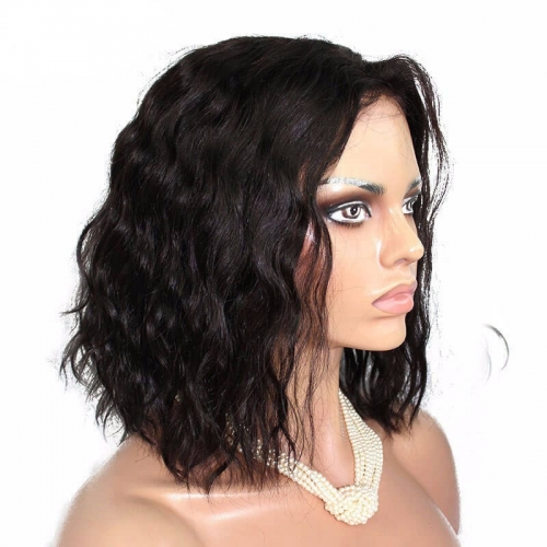 New!!! Bob 360 Lace Frontal Wigs Full Lace Human Hair Wigs 180% Density Natural Wave Short 360 Lace Front Human Hair Wigs