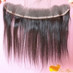 Braizilian Virgin Hair Lace Front Piece 13x2 Frontal Closure Ear to Ear Lace Frontal With Baby Hair Straight 120% density stock