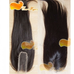 2X4inch Lace Closure 100% Human Hair Virgin Peruvian Hair Closure Straight Density 120% Natural Color 30 days ship