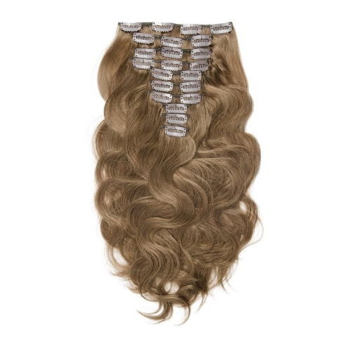Burgundy 99J 120g Clip en Extension Pas Cher Body Wave 8 # Couleur 10pcs