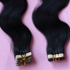 Tape Hair Extensions Virgin Brazilian Hair Tape In Hair Extension Body Wave Adhesive Tape Hair