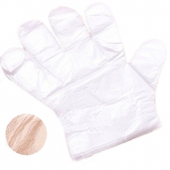 100pcs Transparent Disposable Glove for Hairdressing and Food Handling