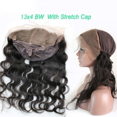 New Style 13x4 Body Wave Lace Frontal closure back With Stretch Cap For Making Wigs Virgin Brazilian Hair