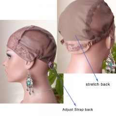 Top Quality U Part Wig Cap For Making U Part Lace Wigs With Stretch Back Adjust Strap  Stock