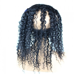 Kinky Curly Brazilian Human Hair 22.5x4x2 360 Lace Frontal Closure with 2 Bundles Hair Extension 3pcs/lot