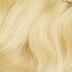 613# Light Blonde 100g 7pcs Hair Clip in Human Extension Body Wave