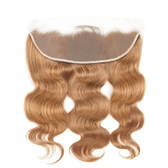 #27 Blonde Lace Frontal Closure 13x4 Ear to Ear Brazilian Body Wave 8-20 Inch Human Remy Hair