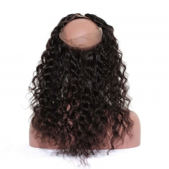 Loose Wave 360 Lace Frontal Closure Pre Plucked Brazilian Virgin Hair Lace Frontal With Natural Hairline