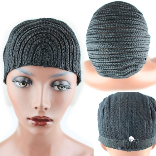 Cornrows Wig Cap Easier To Sew In With Adjustable Strap And Comb Avoid Loss Hair Black Color Protect Own Hair Scalp Breathable