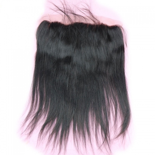 13X4 Lace Frontal Closure Silk Straight Swiss Lace Frontal Top Grade Peruvian Human Hair 130% Density