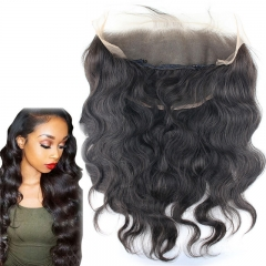 8A Brazilian Virgin Hair Pre Plucked 360 Lace Frontal Closure 13X6 back with Elastic lace band Ear To Ear Lace Froantal (22X6)