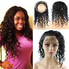 New Style 8A Grade 360 Lace Frontal Band Closure 22.5x4x2inch brizalian Virgin hair Natural Wave 360 Degrees Closure In Stock
