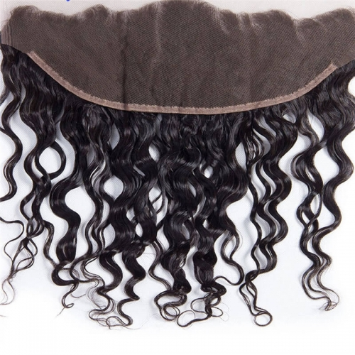 13X4 Ear to Ear Wet And Wavy Lace Frontal Closure Brazilian Human Hair Water Wave Lace Frontal Closure Natural Color