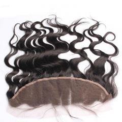 Natural Color Body Wave Brazalian Virgin Hair Lace Frontal Closure 13x4inchs