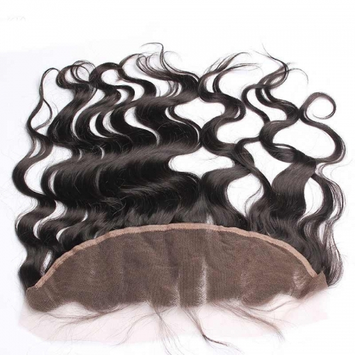 Brazilian Body Wave Human Hair 13x4 Lace Frontal Closure with Baby Hair