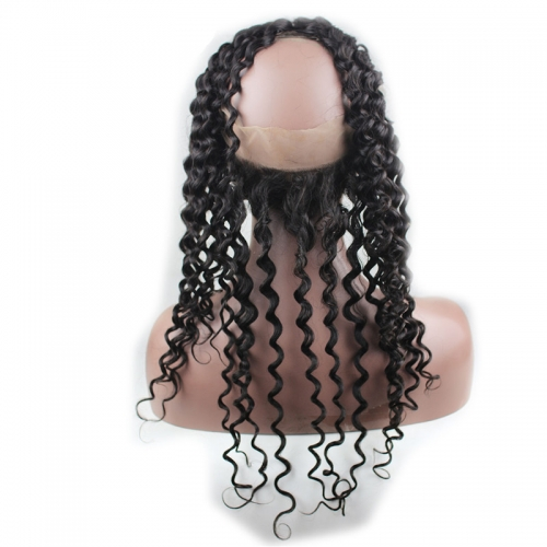 Pre Plucked 360 Lace Frontal Closure Brazilian Virgin Hair Body Wave 360 Frontal With Natural Hairline Baby Hair Frontals 360