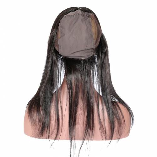 LU Frontal Silky Straight 13*4 Lace Frontal with 360 Circular Hair Cap Brazilian Virgin Hair